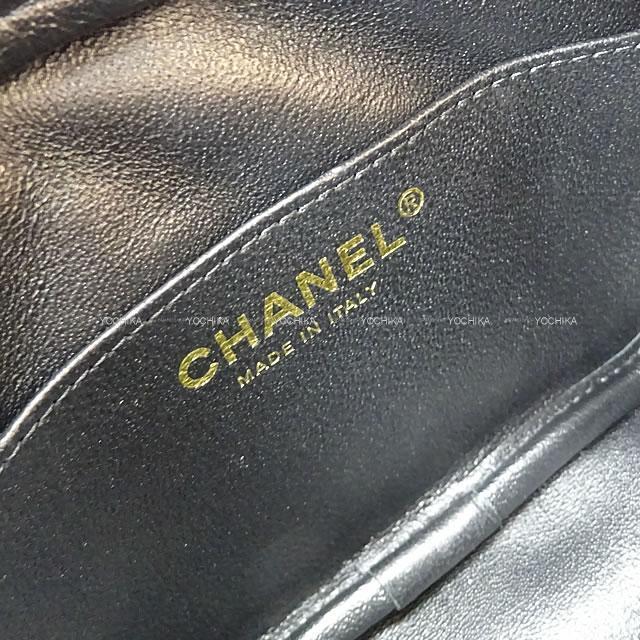 CHANEL シャネル マトラッセ カメラ チェーンショルダー バッグ 黒 キャビアスキン A91796新品