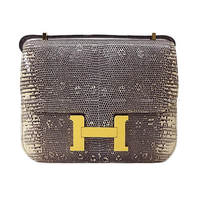 HERMES エルメス ショルダーバッグ コンスタンス3 ミニ 18 オンブレ リザード ゴールド金具 新品