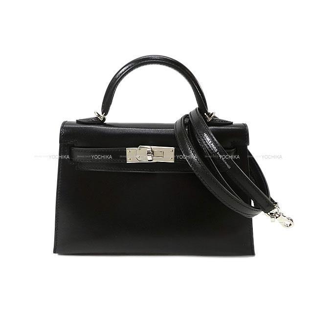 HERMES エルメス ショルダーバッグ ケリー ミニ ドゥ ケリー 20 外縫い 黒 ボックスカーフ 新品未使用