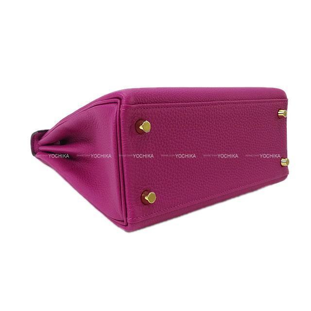 HERMES エルメス ハンドバッグ ケリー25 内縫い ローズパープル トゴ ゴールド金具 新品