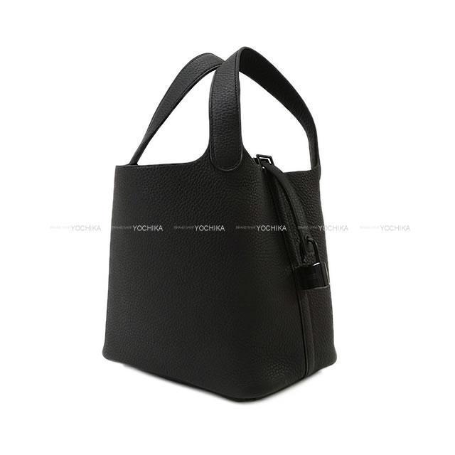 HERMES エルメス ハンドバッグ ピコタンロック 18 PM モノクローム ソーブラック (黒) 新品