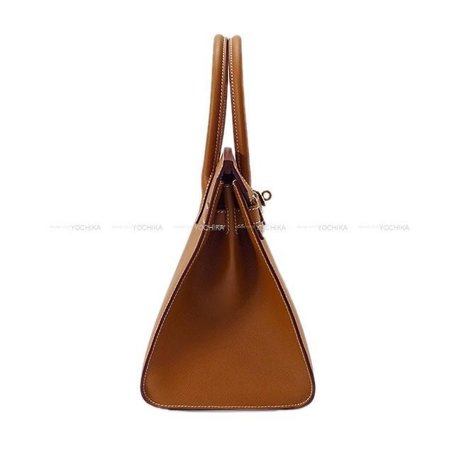 HERMES エルメス ハンドバッグ バーキン30 セリエ 外縫い ゴールド エプソン ゴールド金具 新品
