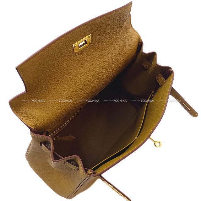 HERMES エルメス ハンドバッグ ケリー28 内縫い ブロンズドレ トゴ ゴールド金具 新品