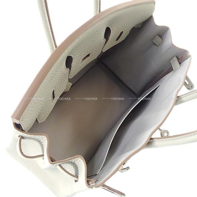 HERMES エルメス ハンドバッグ バーキン25 グリスパール(パールグレー) トゴ シルバー金具 新品未使用