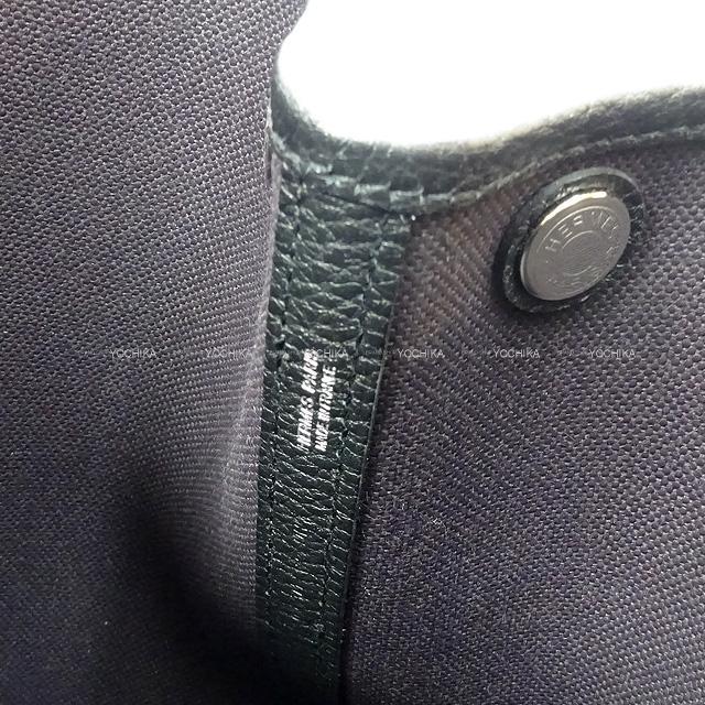 エルメス ハンドバッグ ガーデンパーティ 30 TPM プリュノワールX黒(ブラック) トワルミリタリーXネゴンダ 新品
