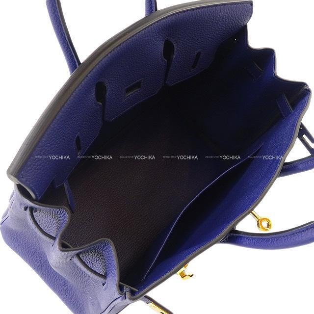 HERMES エルメス ハンドバッグ バーキン25 ブルーインク(アンクル) トゴ ゴールド金具 新品未使用