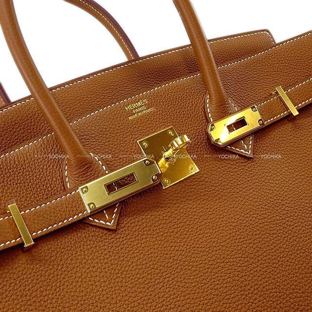 HERMES エルメス ハンドバッグ バーキン35 ゴールド トゴ ゴールド金具 新品