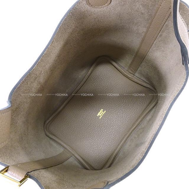 エルメス ハンドバッグ ピコタンロック 18 PM ベージュドゥワイマール トリヨンモーリス ゴールド金具 新品