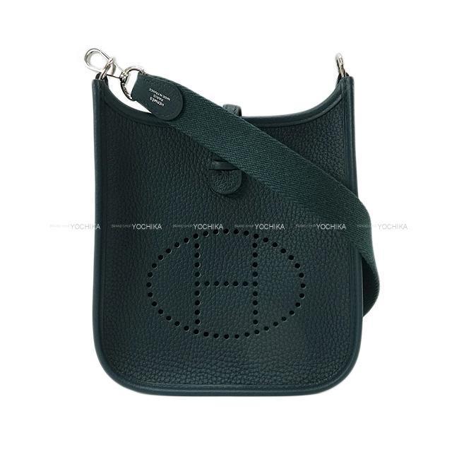 HERMES エルメス ショルダーバッグ ミニ エブリン エヴリン 16 TPM 黒 (ブラック) トリヨン シルバー金具 新品