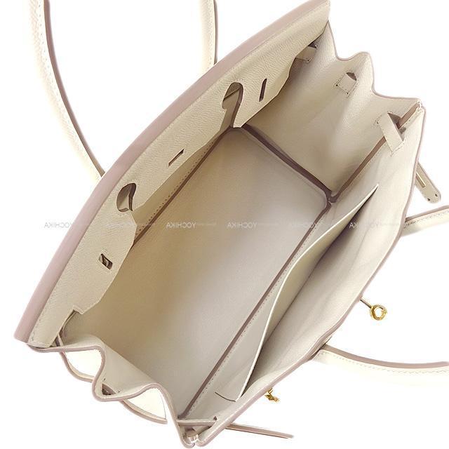 HERMES エルメス ハンドバッグ バーキン30 クレ エプソン ローズゴールド金具 新品同様【中古】