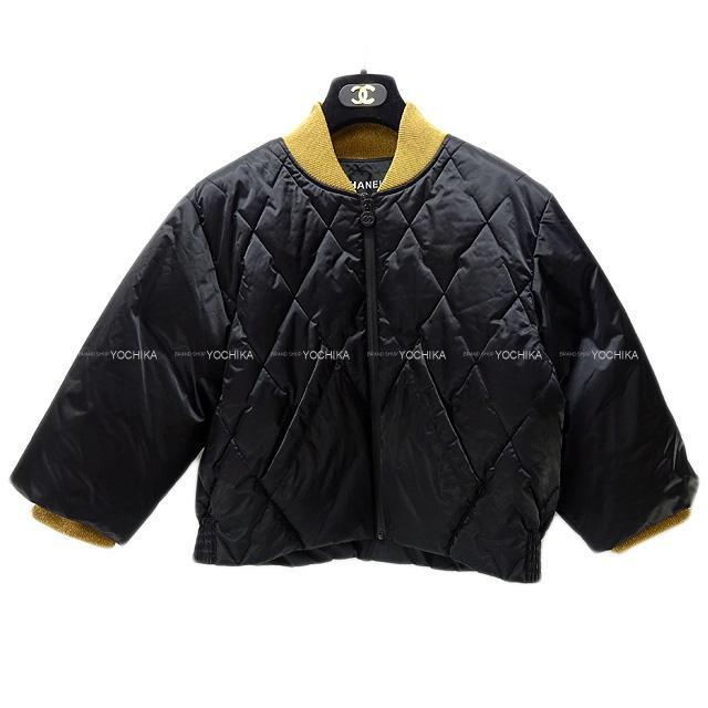 CHANEL シャネル テーラード ジャケット 風 ダウン コート ラメ黒(ブラック) #42 P59047 新品同様【中古】