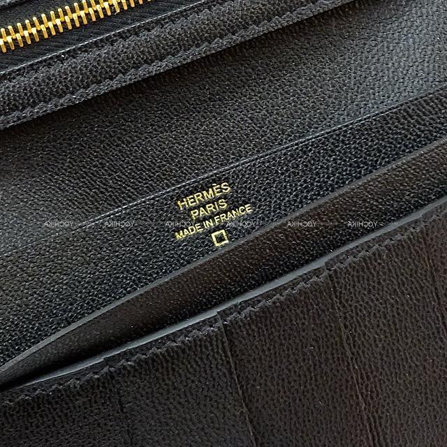 HERMES エルメス 財布 ベアン クラシック 黒(ブラック) クロコダイルアリゲーターマット ローズゴールド金具 新品