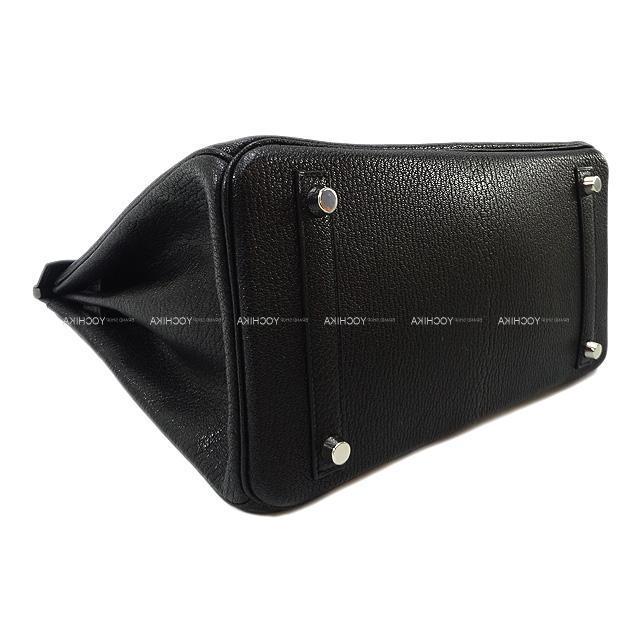 HERMES エルメス ハンドバッグ バーキン30 黒(ブラック) シェーブルコロマンデル シルバー金具 新品