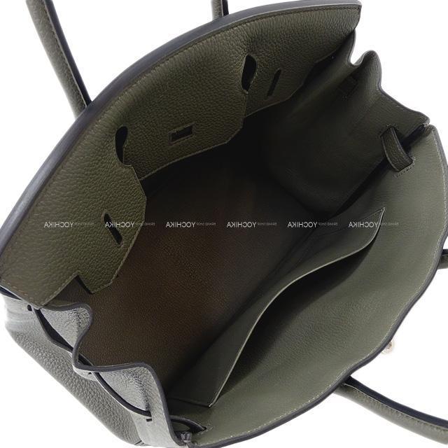 HERMES エルメス ハンドバッグ バーキン30 ブルーザンジバル トゴ シルバー金具 新品