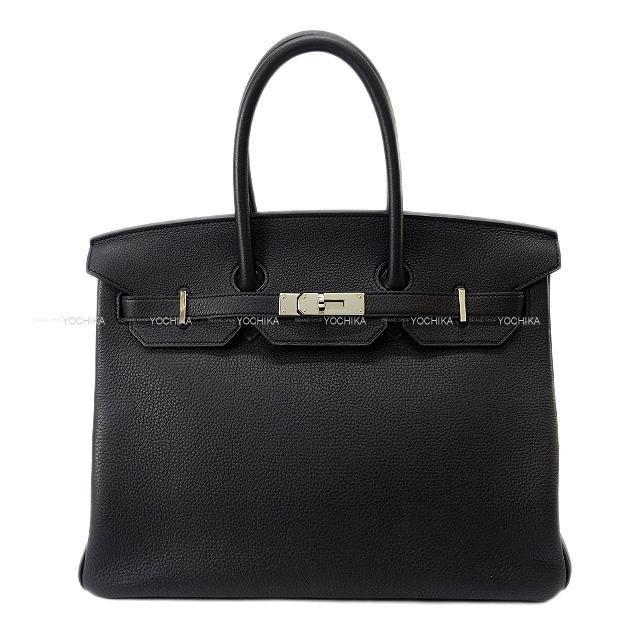 HERMES エルメス ハンドバッグ バーキン35 黒(ブラック) トゴ シルバー金具 新品同様【中古】