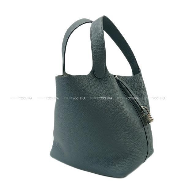 HERMES エルメス ハンドバッグ ピコタンロック 22 MM ブルーオラージュ トリヨン シルバー金具 新品