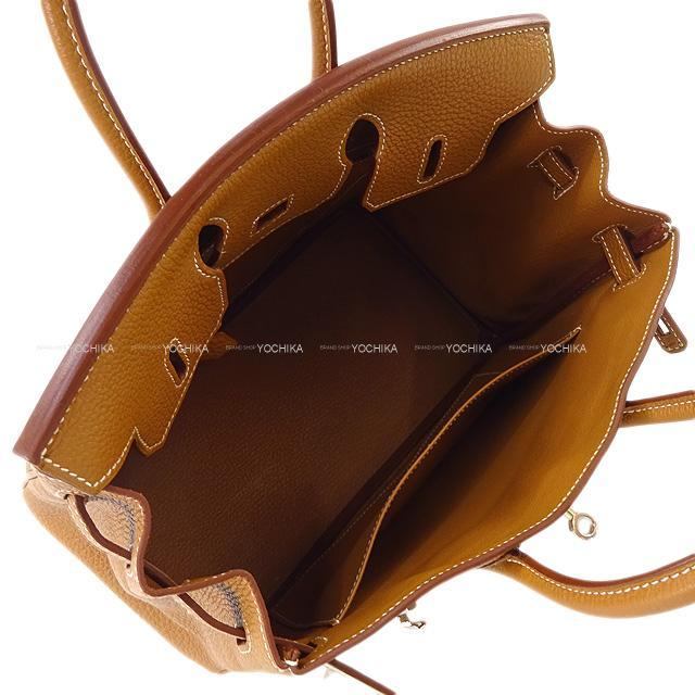 HERMES エルメス ハンドバッグ バーキン25 ゴールド トゴ シルバー金具 新品未使用