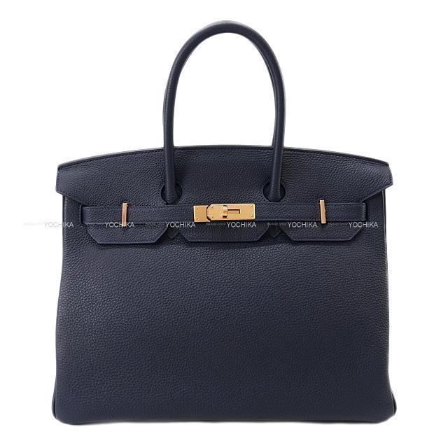 HERMES エルメス ハンドバッグ バーキン35 ブルーニュイ トゴ シルバー金具 展示新品