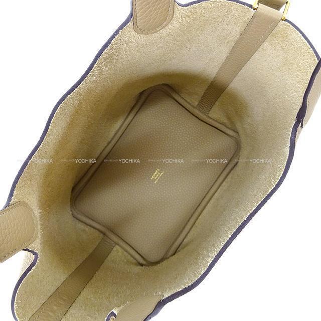HERMES エルメス ハンドバッグ ピコタンロック 18 PM トレンチ トリヨン シルバー金具 新品