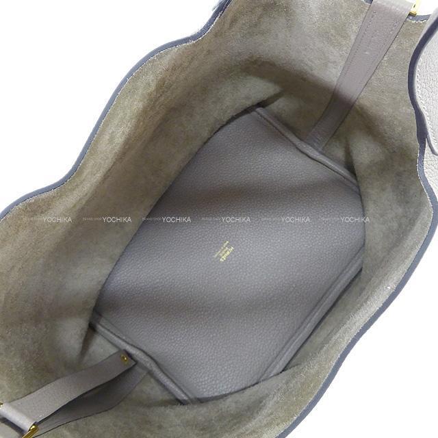 HERMES エルメス ハンドバッグ ピコタンロック 22 MM クレ トリヨン ゴールド金具 新品同様【中古】