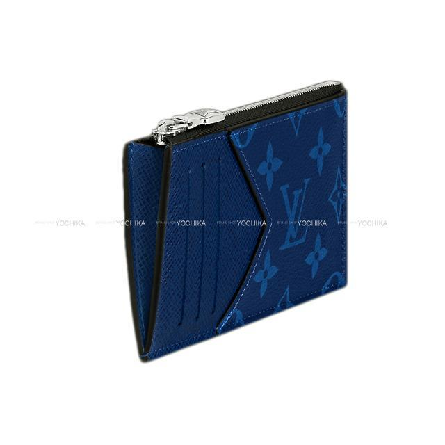 LOUIS VUITTON ルイ・ヴィトン コインカード・ホルダー コバルト モノグラム/タイガレザー M30270 新品
