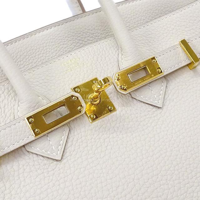 HERMES エルメス ハンドバッグ バーキン25 クレ トゴ ゴールド金具 新品未使用