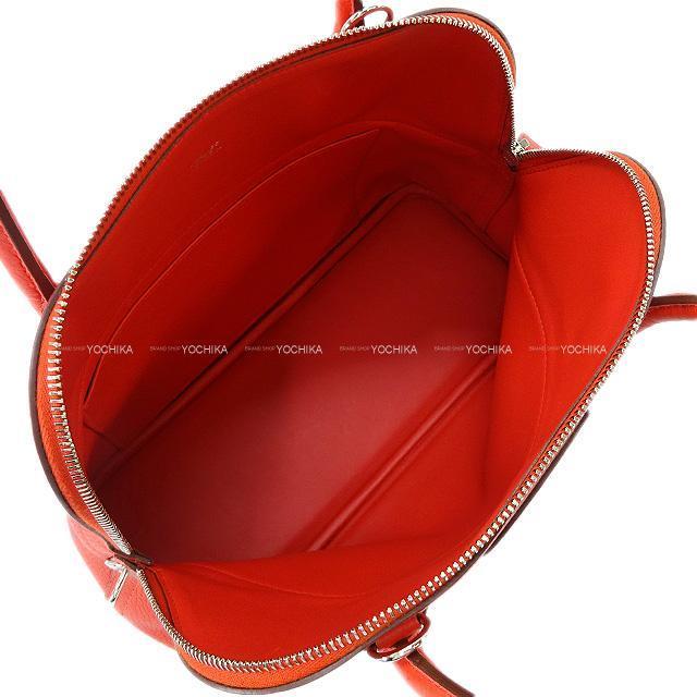 HERMES エルメス ハンドバッグ ボリード31 ルージュトマト トリヨン シルバー金具 新品同様【中古】