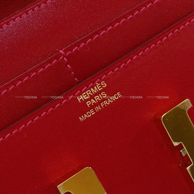 HERMES エルメス 財布 コンスタンス コンパクト ルージュヴィフ タデラクト ゴールド金具 新品未使用