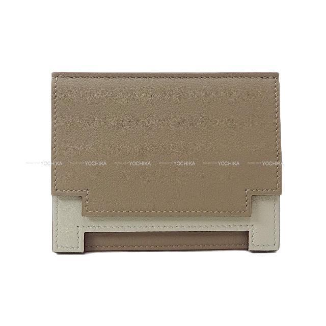 HERMES エルメス カードケース ''ミュルチプリ'' グリアスファルト/グリスパール(パールグレー) スイフト 新品未使用