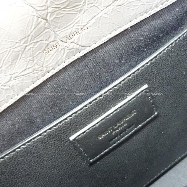 """SAINT LAURENT サンローラン フロントフラッパバッグ """"ニキ"""" ミディアム 498894 グレー カーフ 新品未使用"""