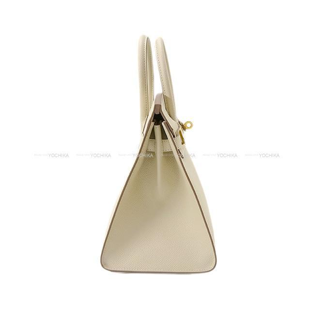 HERMES エルメス ハンドバッグ バーキン25 セリエ 外縫い クレ エプソン ローズゴールド金具 新品