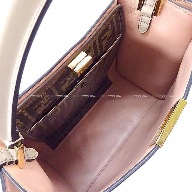 フェンディ 2way ショルダーバッグ セレリア ピーカブー ミディアム フラワー  黒/キャメル  8BN290 展示新品