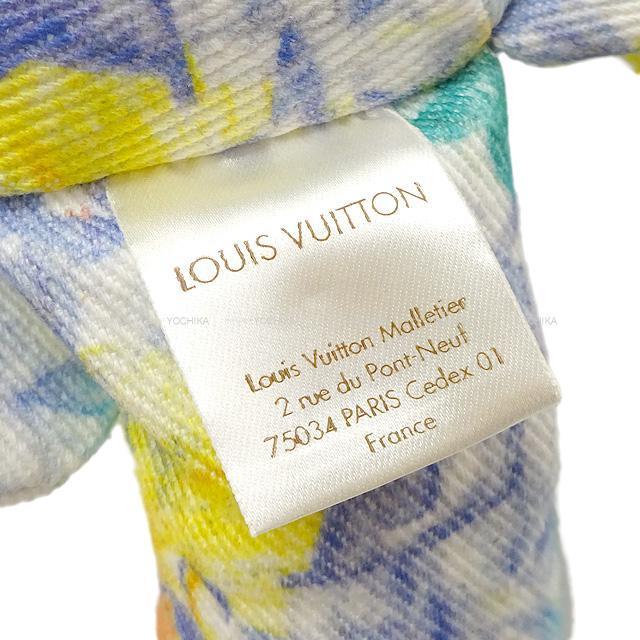 """LOUIS VUITTON ルイ・ヴィトン テディベア ぬいぐるみ くま """"ドゥドゥ・ルイ"""" ブルー GI0502 新品"""