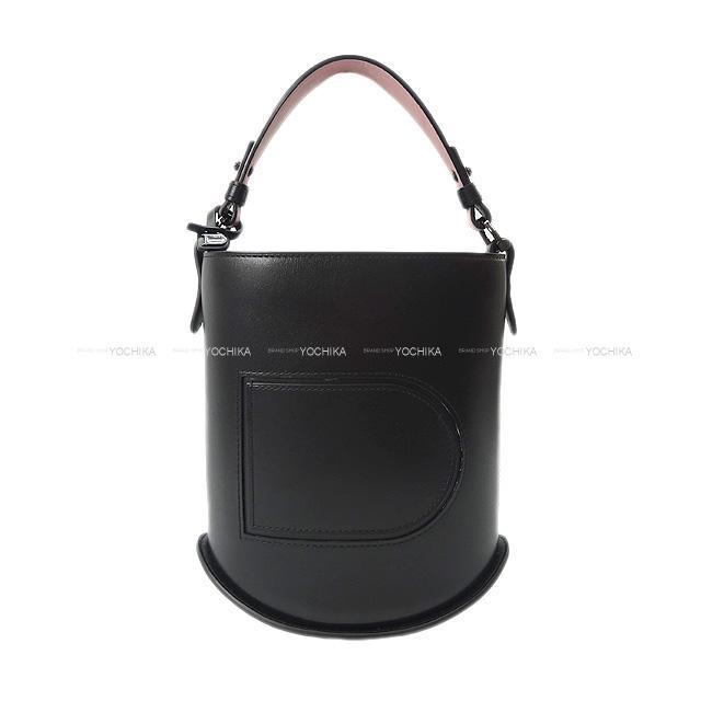 Delvaux デルボー デルヴォー Pin パン ミニ バケットバッグ 黒(ブラック)/ピンク 新品同様【中古】