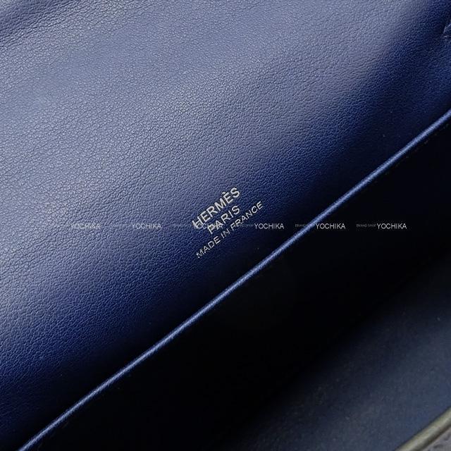 2020年春夏新作 エルメス ハンドバッグ ポシェットケリー ネイビー スイフト シルバー金具 新品同様【中古】