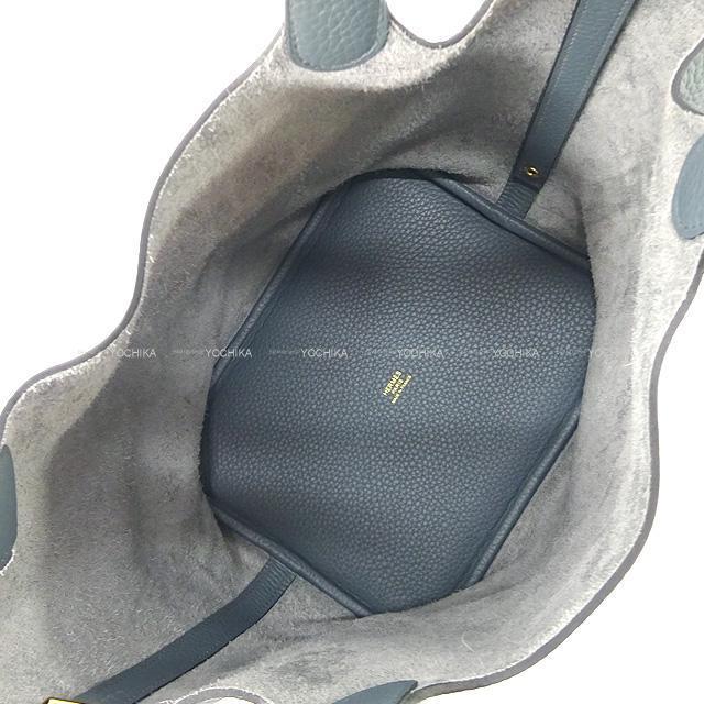 HERMES エルメス ハンドバッグ ピコタンロック 22 MM ブルーオラージュ トリヨン ゴールド金具 新品