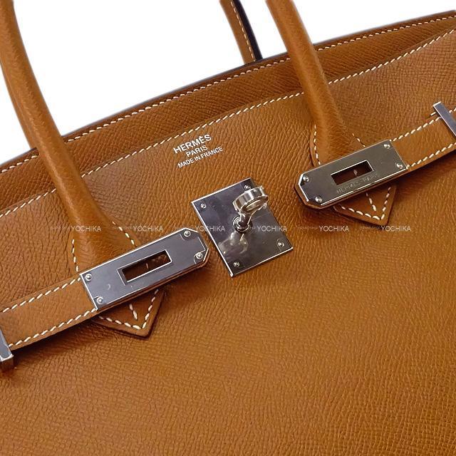 HERMES エルメス ハンドバッグ バーキン35 ゴールド エプソン シルバー金具 新品未使用