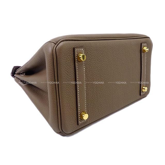 HERMES エルメス ハンドバッグ バーキン25 エトープ(エトゥープ) トゴ ゴールド金具 新品同様【中古】