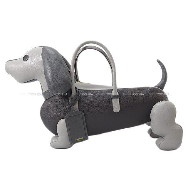THOM BROWNE トムブラウン ダックスフント犬型 HECTORバッグ ドッグタグ付 グレー/黒 新品未使用