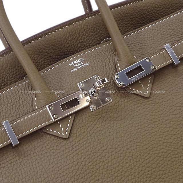 HERMES エルメス ハンドバッグ バーキン25 エトープ (エトゥープ) トゴ シルバー金具 新品