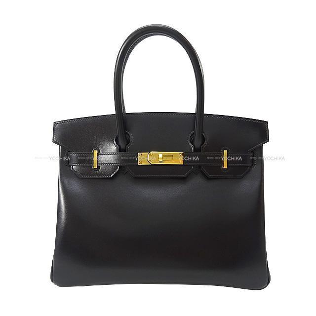 HERMES エルメス ハンドバッグ バーキン30 黒(ブラック) ボックスカーフ ゴールド金具 新品