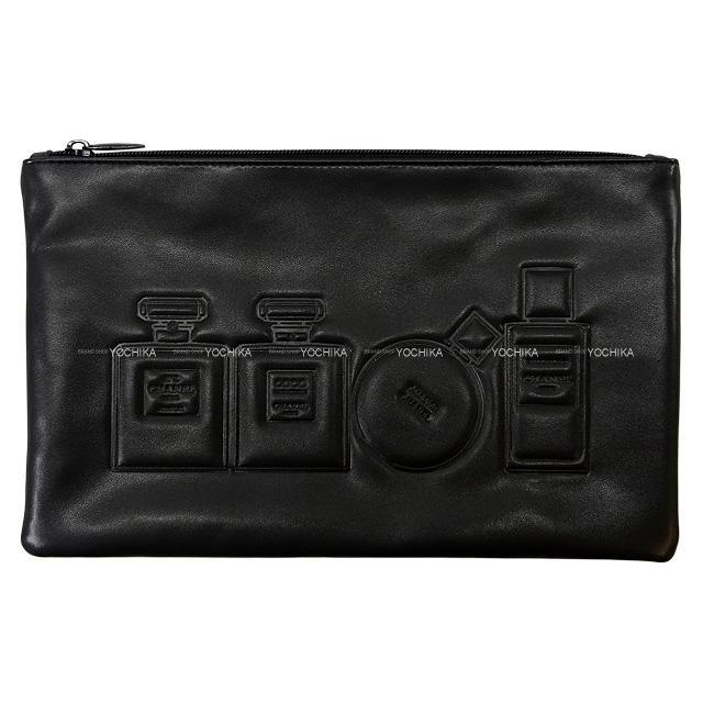 CHANEL シャネル ノベルティ 香水 No.5 コスメ ポーチ 黒(ブラック) PUレザー/ポリエステル 新品未使用