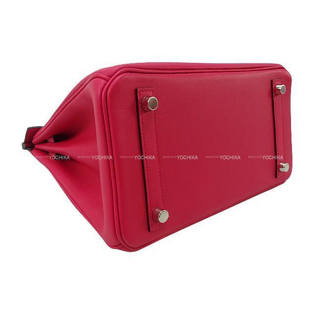 HERMES エルメス ハンドバッグ バーキン25 フランボワーズ スイフト シルバー金具 新品