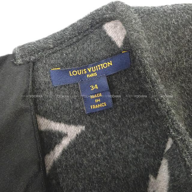 LOUIS VUITTON ルイ・ヴィトン レディス スリーブレス Aラインドレス イン ウール シルクブレンド ウィズ