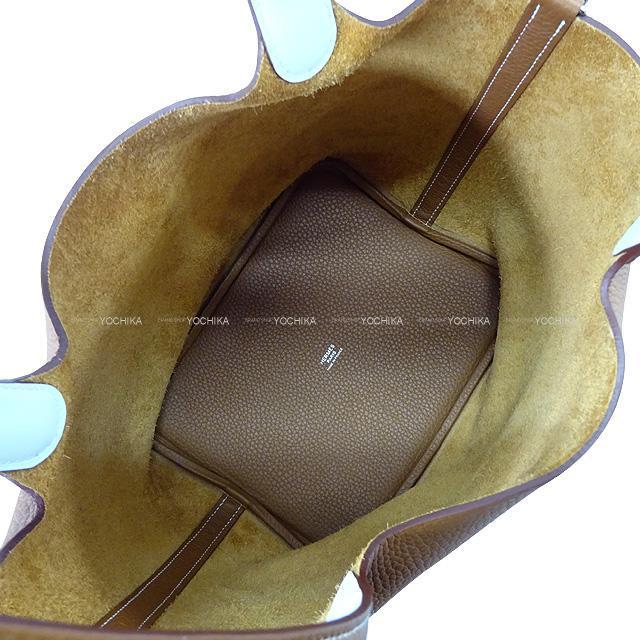 HERMES エルメス ハンドバッグ ピコタンロック エクラ 22 MM ゴールド/ブルーブリュム トリヨン/スイフト 新品