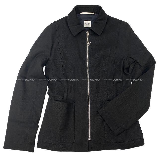 2021年春夏 新作 HERMES エルメス レディース ジャケット シェーヌダンクル 黒(ブラック) #34 新品