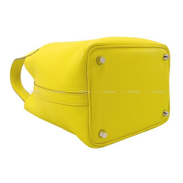 HERMES エルメス ハンドバッグ ピコタンロック 18 PM ジョーヌナプル トリヨン シルバー金具 展示新品