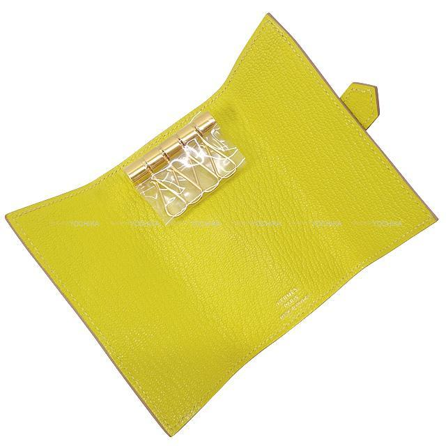 HERMES エルメス ベアン 4連 キーケース ライム シェーブル ゴールド金具 新品未使用