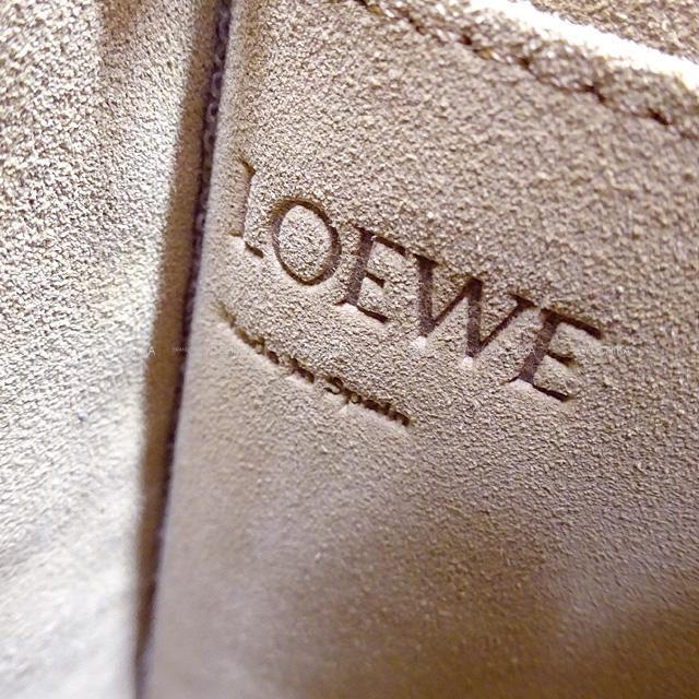 2020年 秋冬 LOEWE ロエベ ロゴパッチ付ポシェットショルダーバッグ ナチュラル 新品未使用