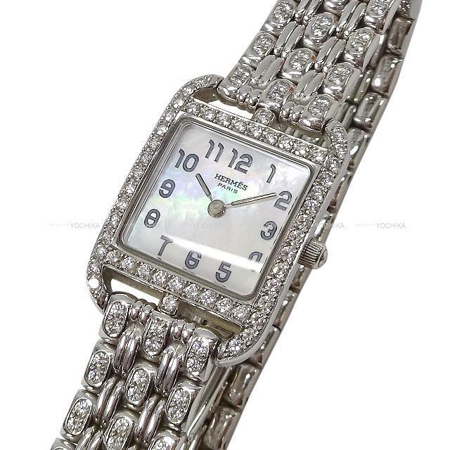 HERMES エルメス レディース 腕時計 ケープコッド ミニ ベゼルダイヤ CC1.192 シルバー SAランク【中古】